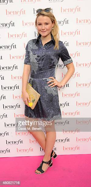 Amber Atherton attends the launch party of Gabbi's Head a popup pub for women created by Benefit Cosmetics open for the duration of the World Cup on...