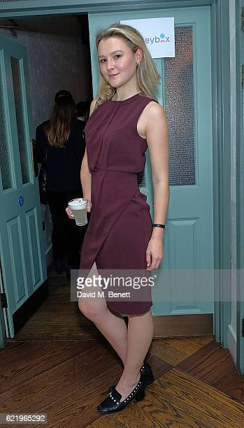 Amber Atherton attends the Moneybox App private dinner at Andina on November 9 2016 in London England