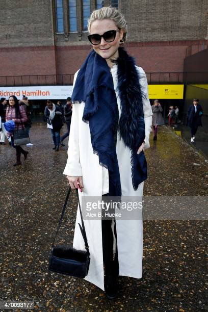 Amber Atherton is sighted at Fashion East A/W 2014 held at the Tate Modern during London Fashion Week on February 18 2014 in London England