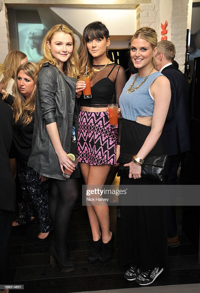 Amber Atherton, Lilah Parsons and Ashley James attend the Casio London Store 1st birthday party on May 8, 2013 in London, England.