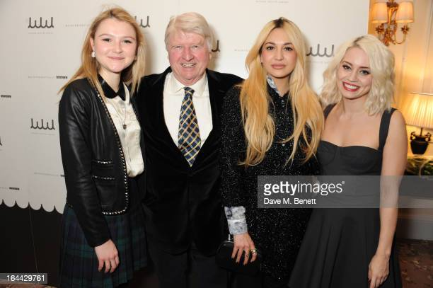 Amber Atherton Stanley Johnson Zara Martin and Kimberly Wyatt attend the launch of WHOLE WORLD Water a global three year intiative to address the...