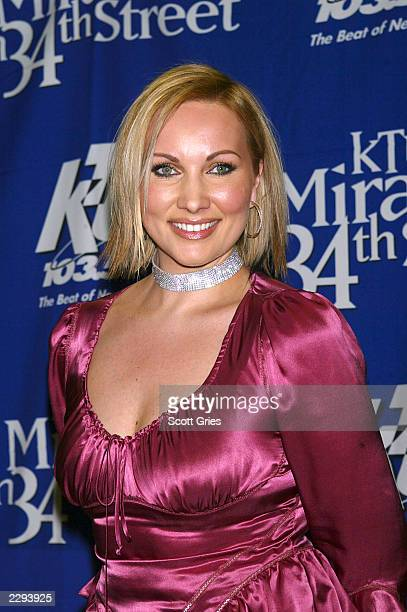 """Amber backstage during """"KTU's Miracle on 34th Street"""" hoilday concert at Madison Square Garden in New York City. December 18, 2002. Photo by Scott..."""