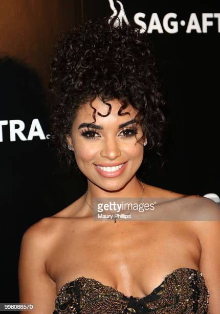 Amber Borzotra attends a celebration for The July 13th Global Launch of ZEUS presented by SAGAFTRA and The Zeus Network at Lure Nightclub Hollywood...