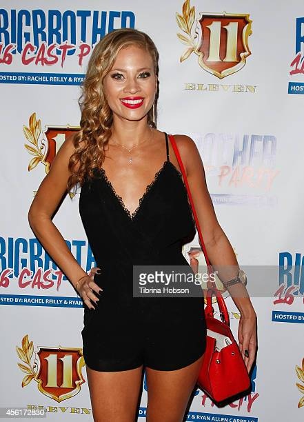 Amber Borzotra attends the 'Big Brother' season 16 finale party at Eleven NightClub on September 25 2014 in West Hollywood California