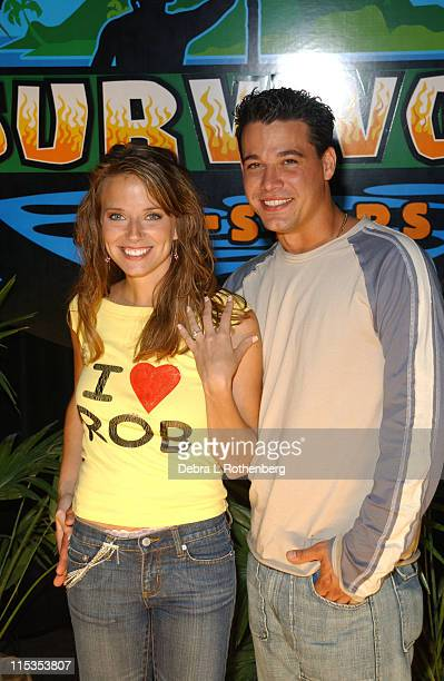 Amber Brkich and Boston Rob Mariano during Survivor All Stars The Final Episode at Madison Square Garden in New York City New York United States