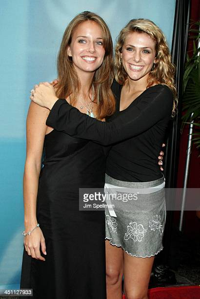 Amber Brkich and Jenna Lewis during CBS Prime Time 20042005 Upfront at Tavern on the Green in New York City New York United States