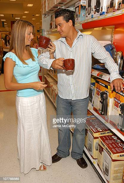 Amber Brkich and Rob Mariano during Rob and Amber Visit Target to Shop for their Registry at Target in Brooklyn New York United States