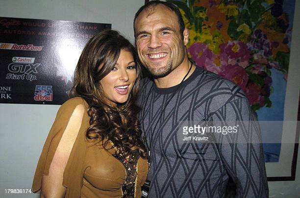 Amber Campisi and Randy Couture during Spike TV's 1st Annual Autorox Awards Backstage at Barker Hanger in Santa Monica California United States