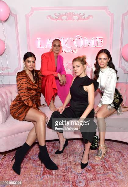 Amber Conrad Georgia Hirst Katheryn Winnick and guest attend Vanity Fair and Lancôme Toast Women in Hollywood on February 06 2020 in Los Angeles...