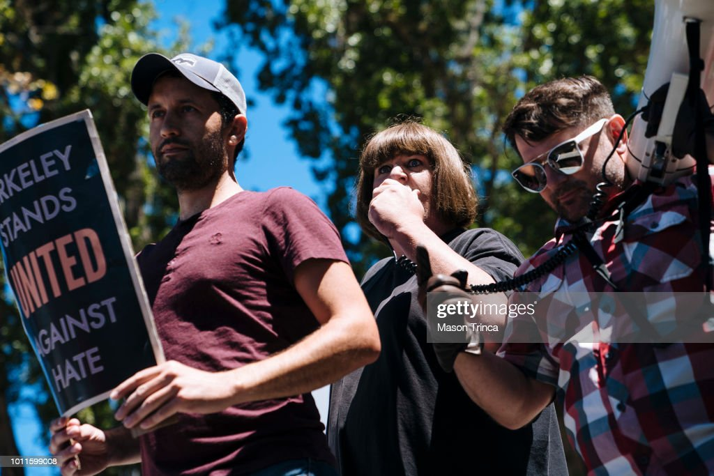 Anti-Marxism Rally In Berkeley Draws Counterprotests : News Photo