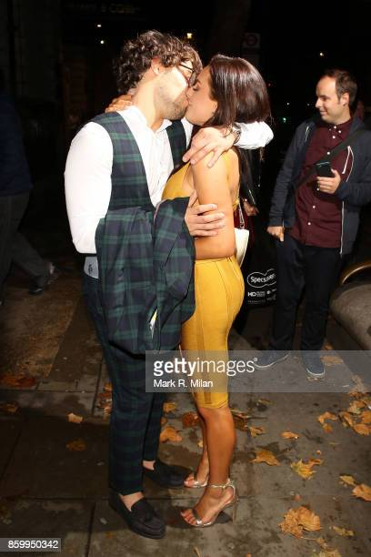 Amber Davies and Kem Cetinay attending the Specsavers 'Spectacle Wearer of the Year' awards on October 10 2017 in London England