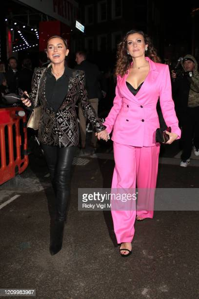 Amber Davies and Kym Marsh seen attending Pretty Woman press night at Piccadilly Theatre on March 02 2020 in London England