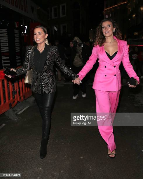 Amber Davies and Kym Marsh seen attending Pretty Woman - press night at Piccadilly Theatre on March 02, 2020 in London, England.