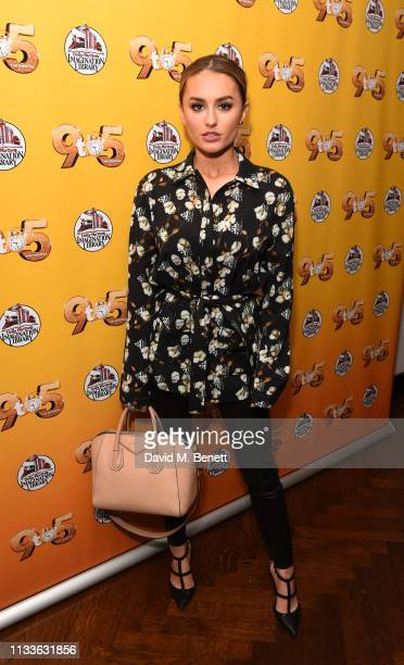 Amber Davies attends an after party to celebrate Louise Redknapp rejoining the cast of 9 To 5 The Musical at The Hospital Club on March 29 2019 in...