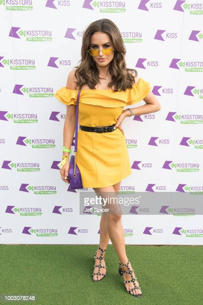 Amber Davies attends Kisstory On The Common 2018 at Streatham Common on July 21 2018 in London England