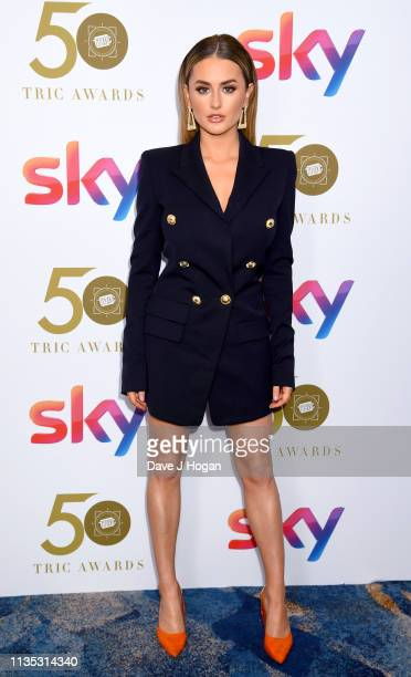 Amber Davies attends the 2019 'TRIC Awards' held at The Grosvenor House Hotel on March 12 2019 in London England