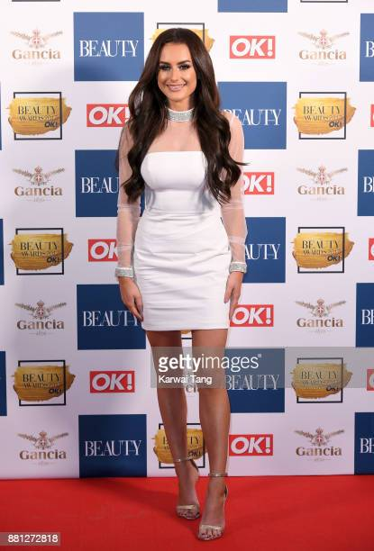 Amber Davies attends The Beauty Awards at Tower of London on November 28 2017 in London England