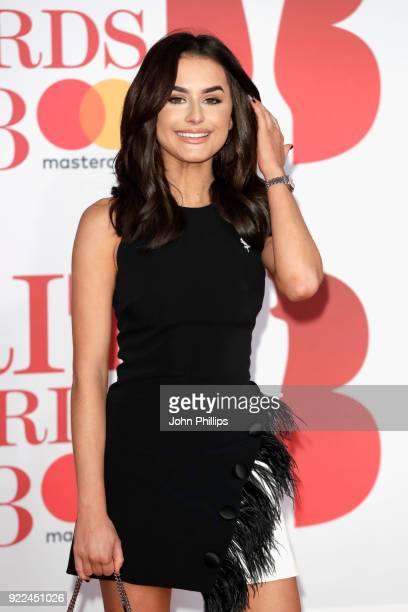 AWARDS 2018*** Amber Davies attends The BRIT Awards 2018 held at The O2 Arena on February 21 2018 in London England