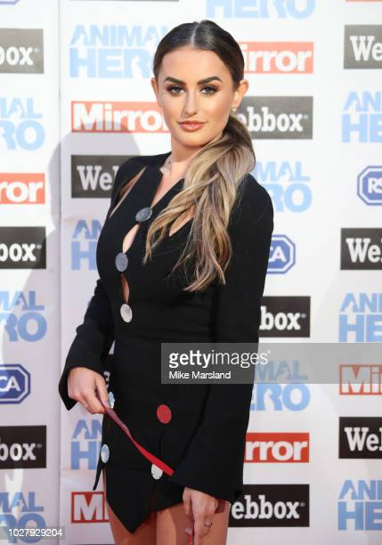 Amber Davies attends the Daily Mirror RSPCA Animal Hero awards at Grosvenor House on September 6 2018 in London England