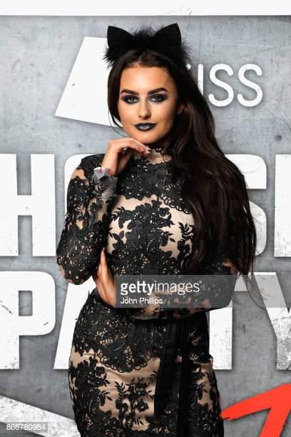 Amber Davies attends the Kiss Haunted House Party held at SSE Arena on October 26 2017 in London England