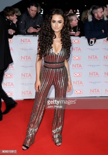 Amber Davies attends the National Television Awards 2018 at the O2 Arena on January 23 2018 in London England