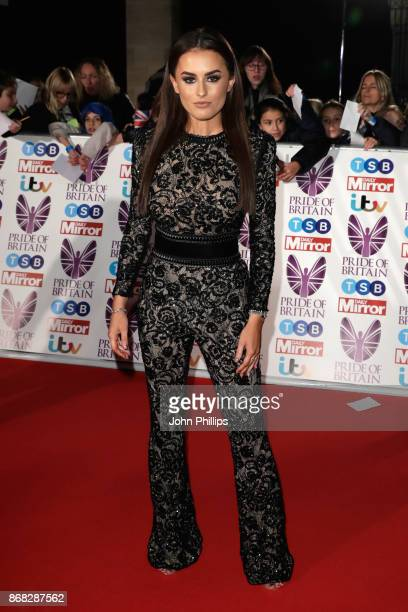 Amber Davies attends the Pride Of Britain Awards at Grosvenor House on October 30 2017 in London England