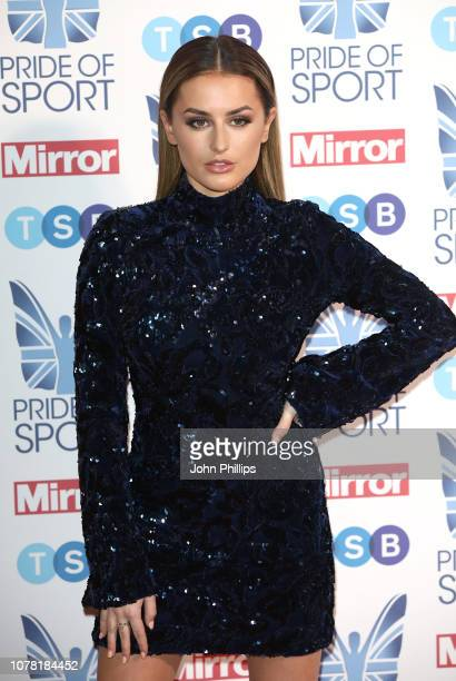 Amber Davies attends the Pride of Sport awards 2018 at Grosvenor House on December 06 2018 in London England