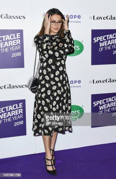 Amber Davies attends the Specsavers 'Spectacle Wearer Of The Year' at 8 Northumberland Avenue on October 24 2018 in London United Kingdom