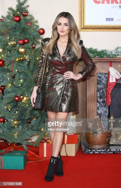 Amber Davies attends the World Premiere of Surviving Christmas With The Relatives at Vue West End on November 21 2018 in London England