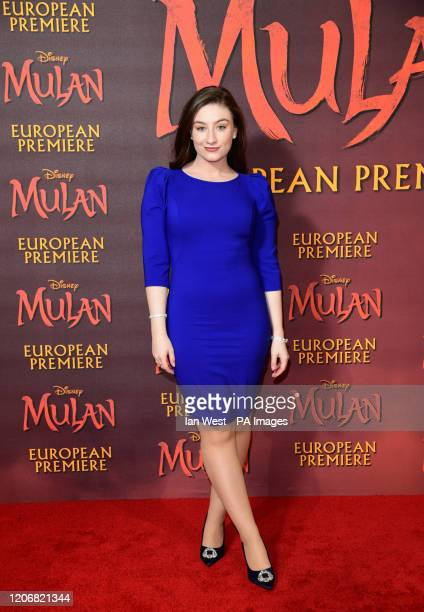 Amber Doig Thorne attending the European premiere of Disney's Mulan held in Leicester Square London