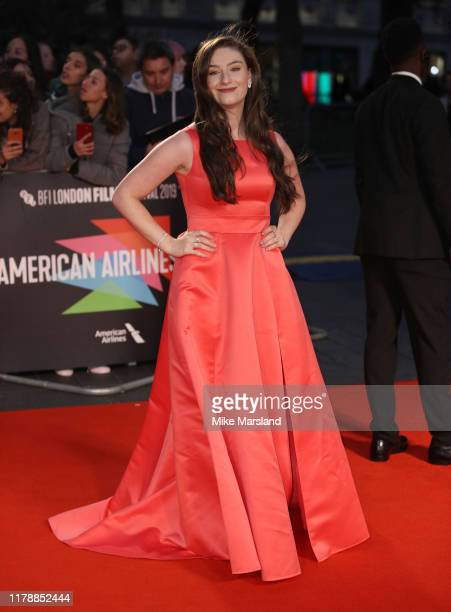 Amber Doig Thorne attends The King UK Premiere during the 63rd BFI London Film Festival at Odeon Luxe Leicester Square on October 03 2019 in London...