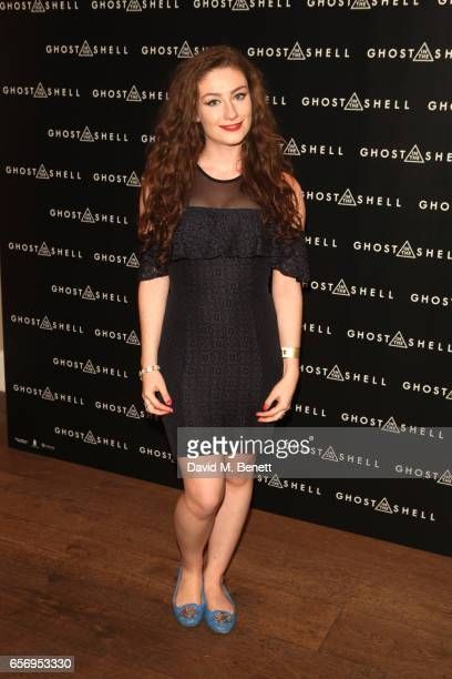 Amber Doig Thorne attends the UK Gala Screening of 'Ghost In The Shell' at The Ham Yard Hotel on March 23 2017 in London England