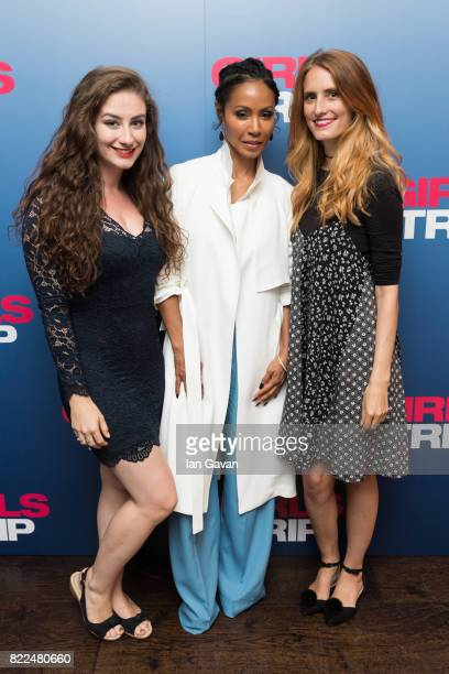 Amber Doig Thorne Jada Pinkett Smith and guest attend a special screening of Girls Trip at the Soho Hotel on July 25 2017 in London England
