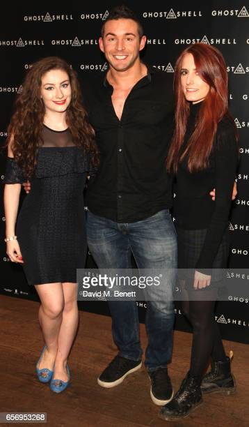 Amber Doig Thorne James Alexander Ellis and Sophie Eggleton attend the UK Gala Screening of 'Ghost In The Shell' at The Ham Yard Hotel on March 23...