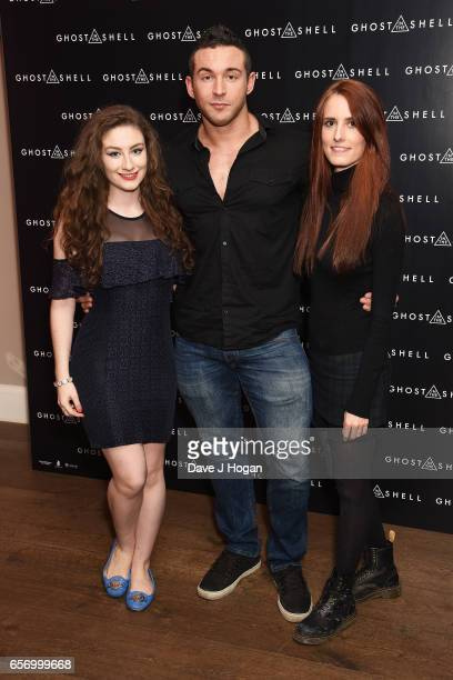 Amber Doig Thorne James Alexander Ellis and Sophie Eggleton attend the UK gala screening of Ghost in the Shell on March 23 2017 in London United...
