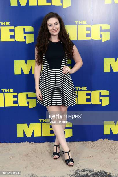 Amber DoigThorne attends a special screening of 'The Meg' at Brockwell Lido on August 7 2018 in London England