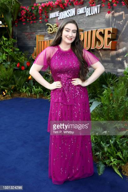 """Amber Doig-Thorne attends Disney's """"Jungle Cruise"""" special screening at Cineworld Leicester Square on July 29, 2021 in London, England."""