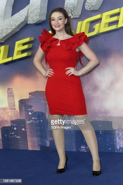 Amber DoigThorne attends the 'Alita Battle Angel' World Premiere at the Odeon Luxe in Leicester Square