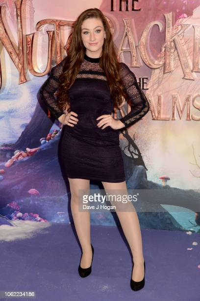 Amber DoigThorne attends the European Gala Screening of Disney's 'The Nutcracker and The Four Realms' at Vue Westfield on November 01 2018 in London...