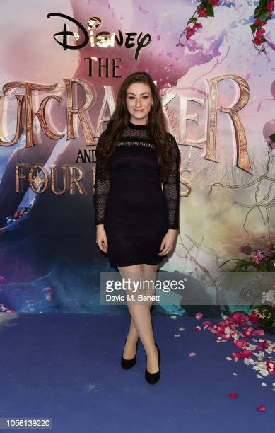 Amber DoigThorne attends the European Premiere of Disney's The Nutcracker And The Four Realms at Vue Westfield on November 1 2018 in London England