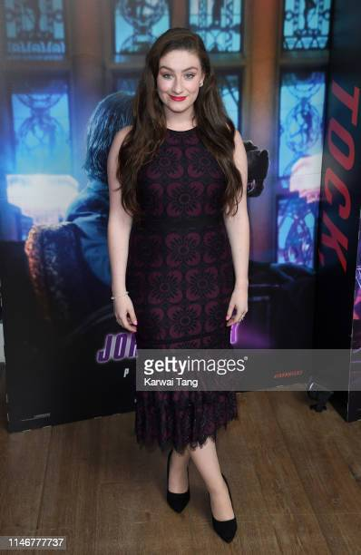 """Amber Doig-Thorne attends the """"John Wick: Chapter 3"""" special screening at The Ham Yard Hotel on May 03, 2019 in London, England."""