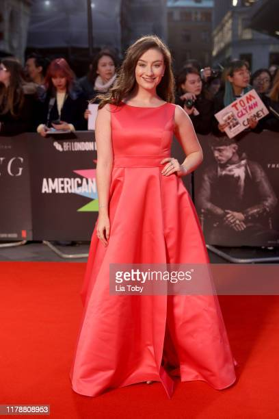 Amber DoigThorne attends The King UK Premiere during the 63rd BFI London Film Festival at Odeon Luxe Leicester Square on October 03 2019 in London...