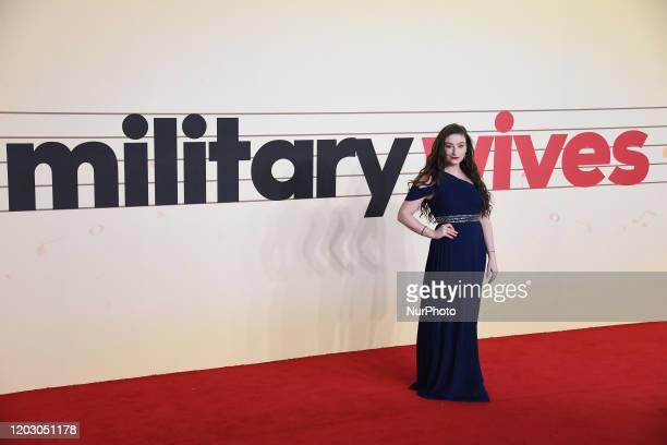 Amber Doig-Thorne attends the Military Wives UK Premiere at Cineworld Leicester Square on February 24, 2020 in London, England.