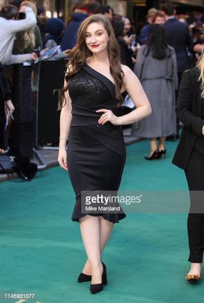Amber DoigThorne attends the Tolkien UK premiere at The Curzon Mayfair on April 29 2019 in London England