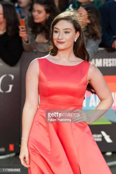 Amber DoigThorne attends the UK film premiere of 'The King' at Odeon Luxe Leicester Square during the 63rd BFI London Film Festival American Airlines...