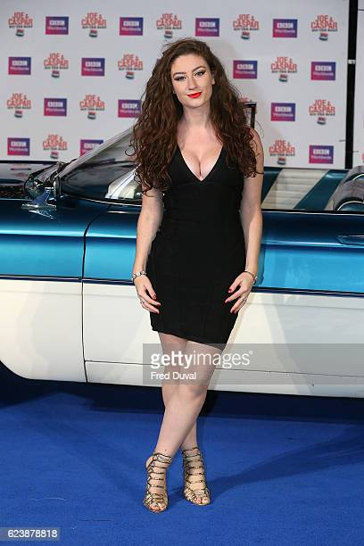 Amber DoigThorne attends the UK Premiere of 'Joe Casper Hit The Road USA' at Cineworld Leicester Square on November 17 2016 in London England