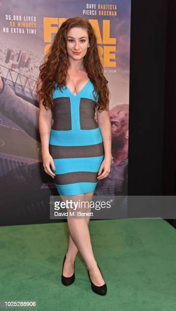 Amber DoigThorne attends the World Premiere of Final Score at The Ham Yard Hotel on August 30 2018 in London England