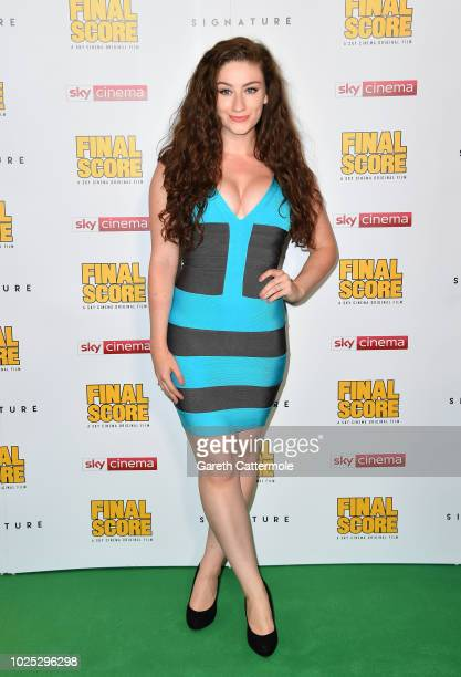 Amber DoigThorne attends the World Premiere of 'Final Score' at the Ham Yard Hotel on August 30 2018 in London England