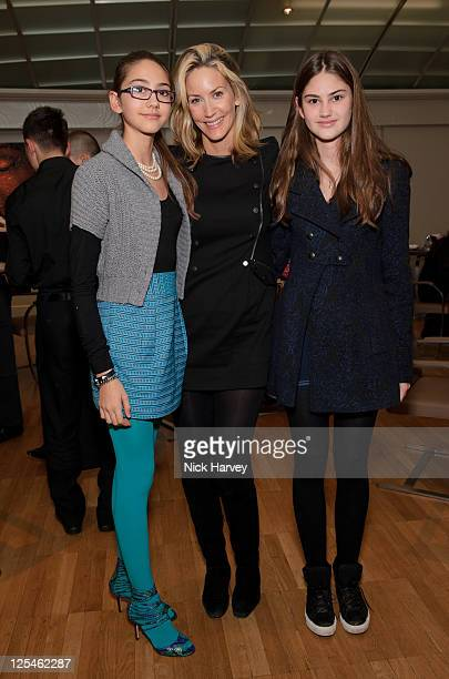 Amber Donoso, Lisa Butcher and Olivia Donoso attend 'Project D' tea party at Harvey Nichols on October 26, 2010 in London, England.