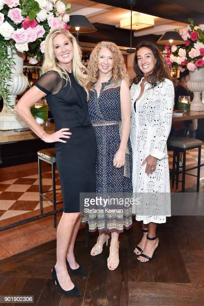 Amber Estabrook Gina Gervino and Audra Asencio attend Lynn Hirschberg Celebrates W Magazine's It Girls With Dior at AOC on January 6 2018 in Los...